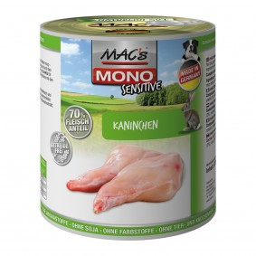 MAC´s Dog Mono Hunde-Nassfutter Sensitive Kaninchen