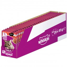 Whiskas Adult 1+ Ragout mit Rind in Gelee