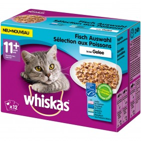 Whiskas Senior 11+ Fischauswahl in Gelee 12x100g