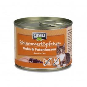 Grau Schlemmertöpfchen Adult Huhn mit Putenherzen24x200g
