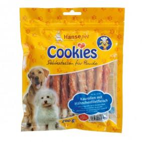 Hansepet Hundesnack Cookies Delikatess-Hähnchenfilet auf Kaurolle 200 g