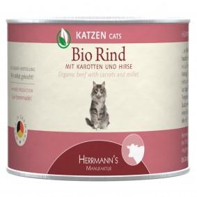 Herrmanns Bio Katzenfutter Rind mit Karotten und Hirse