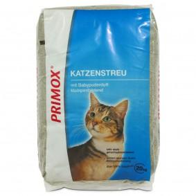Primox Katzenstreu Ultra mit Babypuderduft 20kg