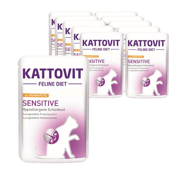 Kattovit Katzen-Nassfutter Sensitive Huhn & Pute 24x85g