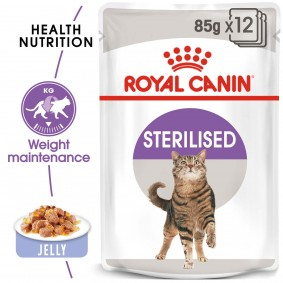 ROYAL CANIN STERILISED Nassfutter in Gelee für kastrierte Katzen