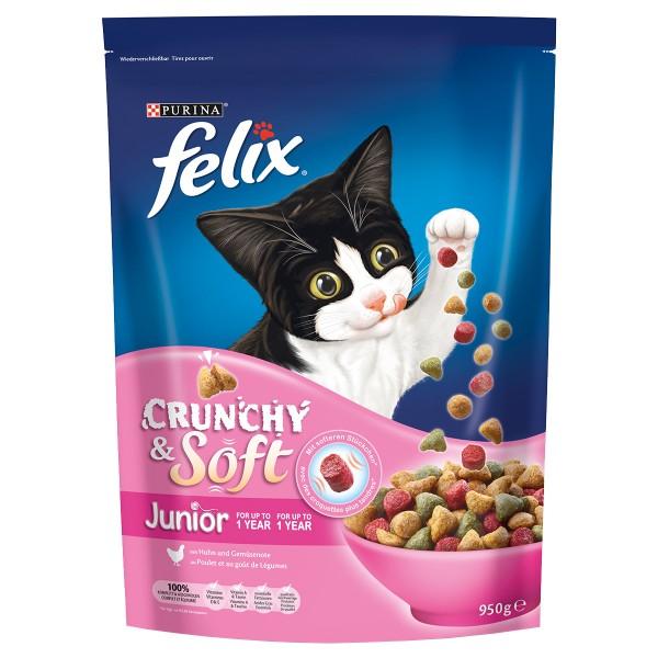 FELIX Crunchy & Soft Junior mit Huhn und Gemüse