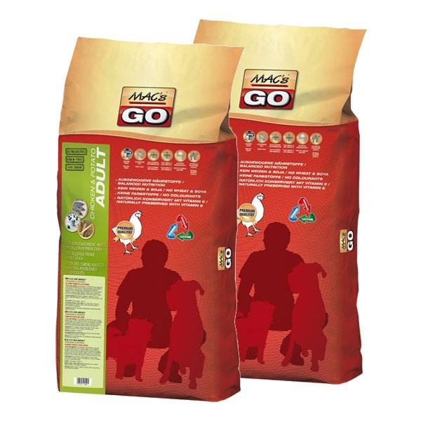 MAC's Go Adult Hundefutter 2x12kg Trockenfutter verschiedene Sorten