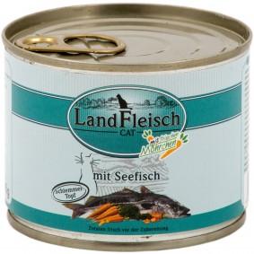 Landfleisch Cat Katzenfutter Schlemmertopf Seefisch