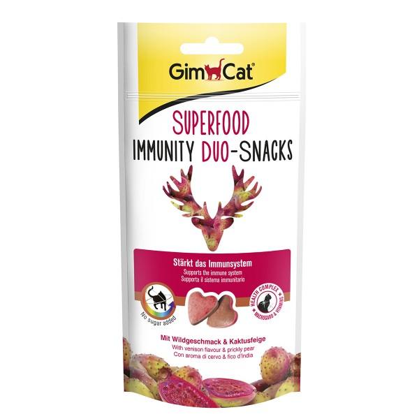GimCat Superfood Immunity Duo-Snacks mit Wildgeschmack und Kaktusfeige