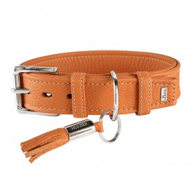 Hunter Leder-Halsband Cannes orange