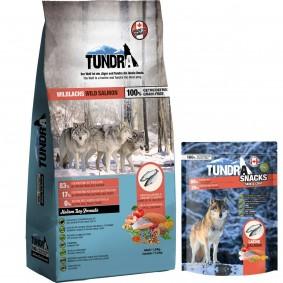 Tundra Wildlachs 11,34kg + 100g Lachs Snack