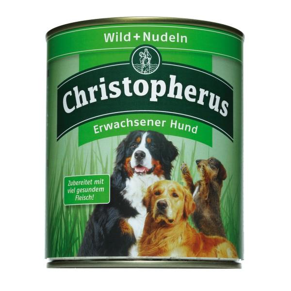 Christopherus Hundefutter: Wild & Nudeln - 6x800g
