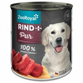 ZooRoyal Rind pur Hundefutter Hundefutter 800g