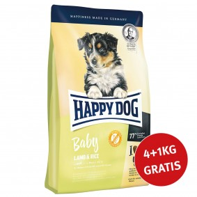 Happy Dog Supreme Young Baby Lamm & Reis 4kg + 1 kg GRATIS