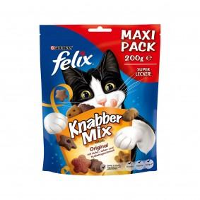 FELIX KnabberMix Original pamlsky pro kočky s kuřecím masem, játry a krocaním masem