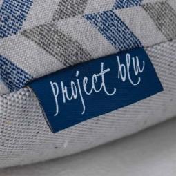 Project Blu Eco Kissen Donau blau