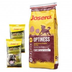 Josera Optiness 15kg + Loopies Lamm 2x150g