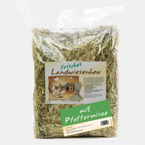 Naturhof Schröder Landwiesen Heu locker gestopft m. Minze 500 g