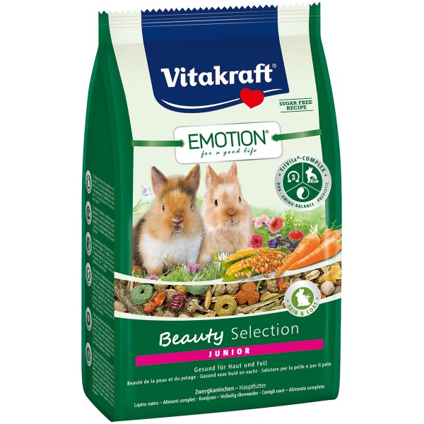 Vitakraft Emotion Beauty Selection Junior Zwergkaninchen 600g