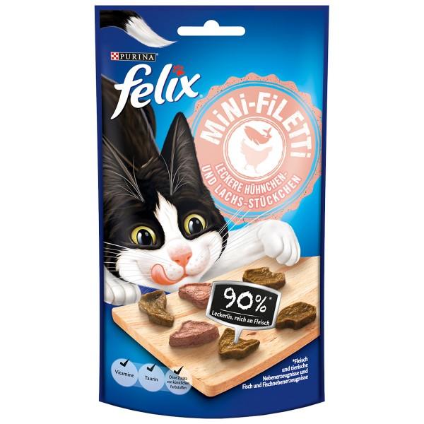 Felix Mini-Filetti Leckere Hühnchen- und Lachs- Stückchen