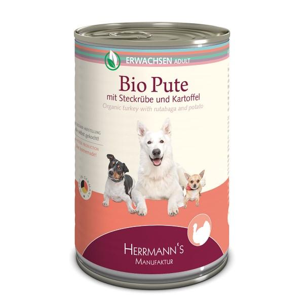 Herrmanns Bio Hundefutter Pute mit Steckrüben und Kartoffeln