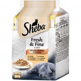 Sheba Katzenfutter Fresh & Fine Geflügel Variation in Gelee 6x50g