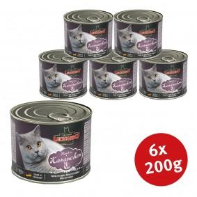Leonardo Premium Katzenfutter All-Meat 6x200g Reich an Kaninchen