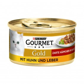 Gourmet Gold Zarte Häppchen Huhn und Leber