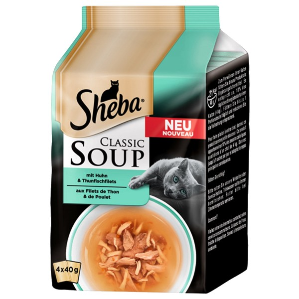 Sheba Soup Huhn & Thunfischfilet Multipack 4x40g