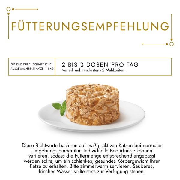 GOURMET Gold Raffiniertes Ragout Duetto Katzennassfutter mit Rind und Huhn
