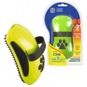 FURminator Curry Comp Striegel für Hunde und Katzen