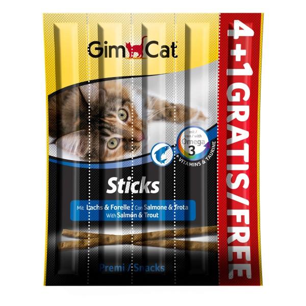 GimCat Sticks Lachs + Forelle 4+1 gratis