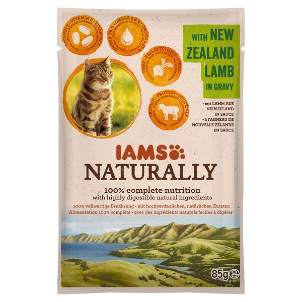 IAMS Naturally Katze Nassfutter Adult Lamm in S...