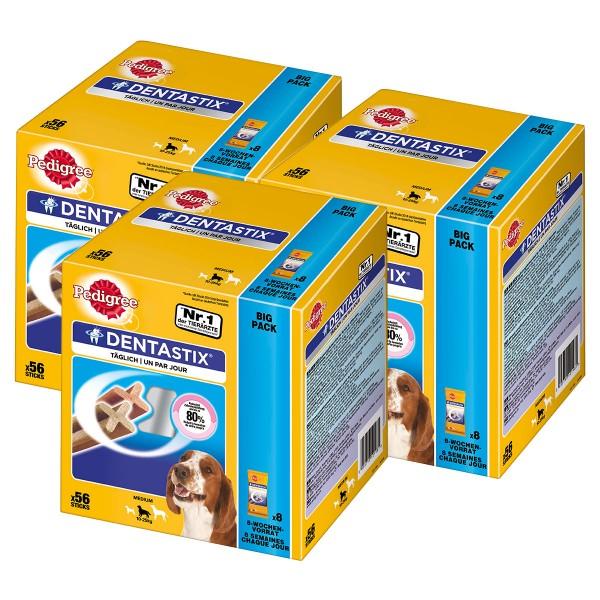 Pedigree DentaStix für mittelgroße Hunde 128+40 Gratis