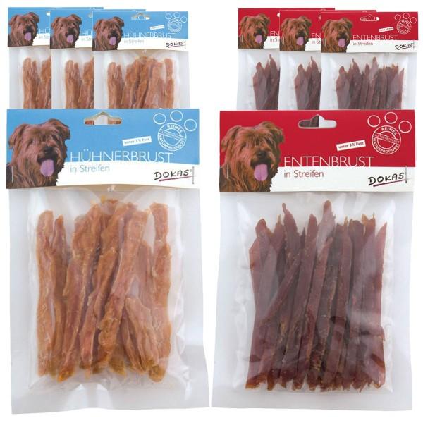 Dokas 2kg Filet in Streifen mit 1kg Ente und 1kg Huhn Premium Hundesnack