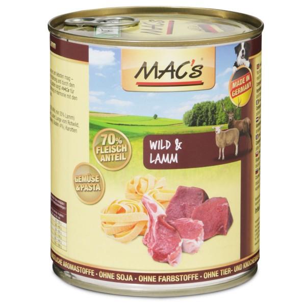 MAC's Dog Hunde-Nassfutter Wild und Lamm