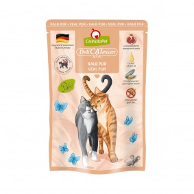 GranataPet Katze - Delicatessen Pouch Kalb PUR