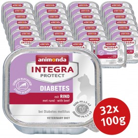 Animonda Katzenfutter Integra Protect Diabetes 32x100g - Rind Sale Angebote Guteborn