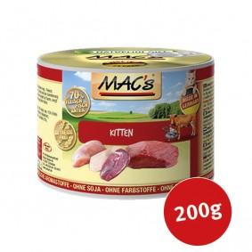 MAC's Cat Menu à la viande pour chatons 6x200g