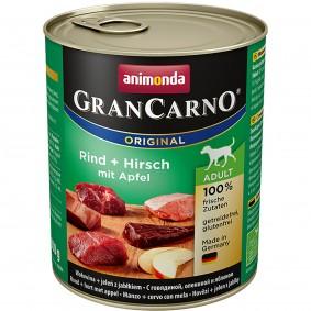 Animonda Hunde-Nassfutter GranCarno Adult Rind und Hirsch mit Äpfeln