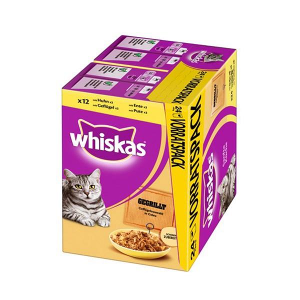 Whiskas Sanfte Küche Gegrilltes Geflügel 24x85g
