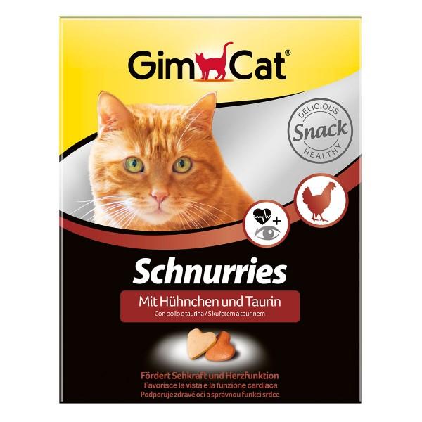 GimCat Katzensnacks Schnurries Hühnchen und Taurin