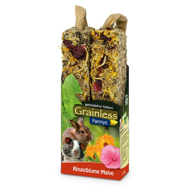 JR Farm Nagersnack Grainless Farmys Ringelblume-Malve 140g