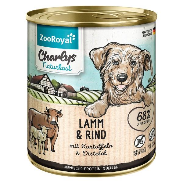 ZooRoyal Charlys Naturkost Lamm & Rind mit Kartoffeln & Distelöl