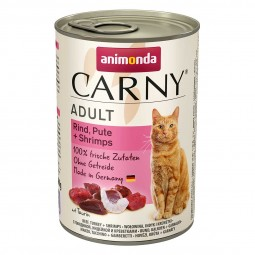 Animonda Katzenfutter Carny Adult Rind, Pute & Shrimps