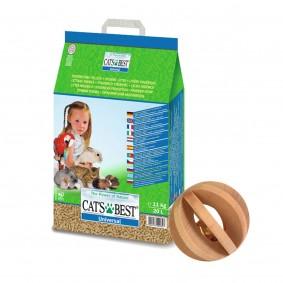 Cats Best Universal Pflanzenfaserstreu 20 lPLUS Trixie Lamellenholzball mit Glocke für Kleintiere GR