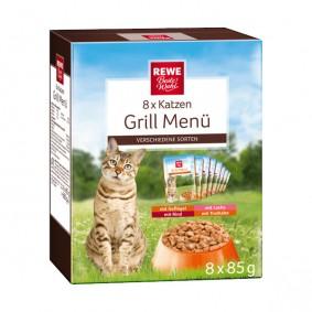 REWE Beste Wahl Katzen Grill Menü Multipack 8x85g