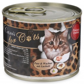 O'Canis Katzenfutter Pute, Wachtel und Lachsöl 200g