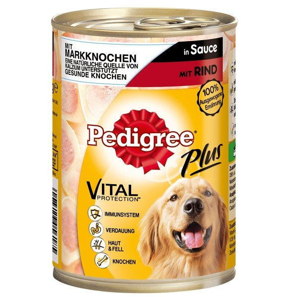 Pedigree Plus Markknochen Rind in Sauce