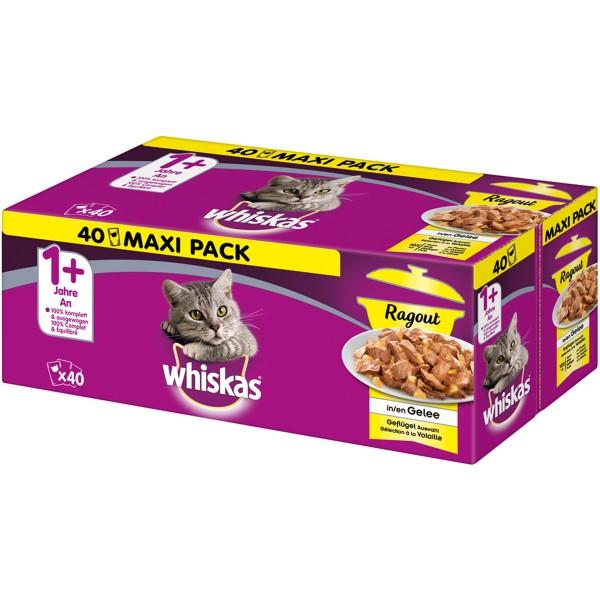 Whiskas Adult 1+ Ragout Geflügelauswahl in Gelee 40x85g
